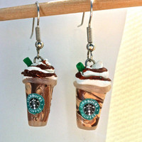 Starbucks Coffee Earrings (Hand-Sculpted)
