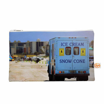 "Angie Turner ""Ice Cream Truck"" Blue Yellow Everything Bag"