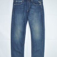 Replay Grover Straight-Fit Jean in Mid Wash
