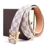 LV louis vuitton white belt
