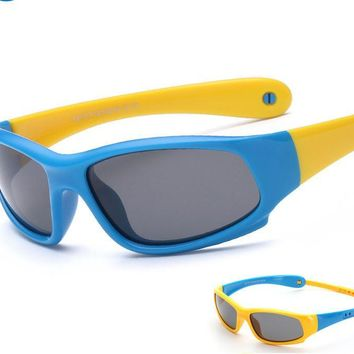 Polarized Sport Sunglasses Baby Banz for Kids Children Toddler Shades Silicone UV 400 Protection Glasses Designer With Band