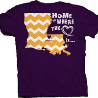 Southern Belle Louisiana LSU Baton Rouge Chevron State Girlie Bright T Shirt