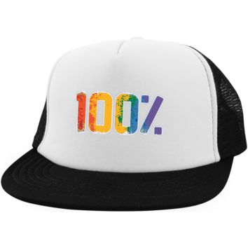 Gay Pride Trucker Hat 100%