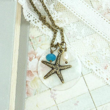 Star Fish Necklace Shell Necklace Seashell Jewelry Starfish Necklace Beach Wedding Starfish Jewelry