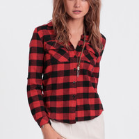 Class Dismissed Plaid Button-Up