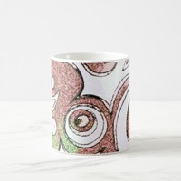 Traveler Red Green Abstract Art Ornament Coffee Mug