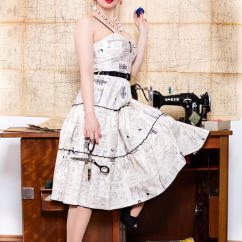 Dolly Pin Up Dress in McCalls Print