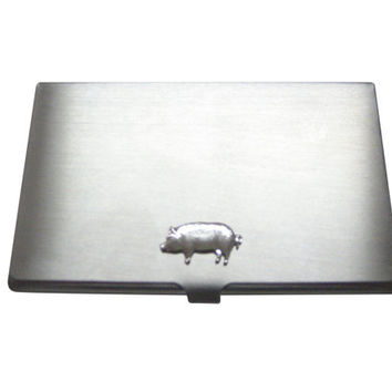 Pig Pendant Business Card Holder