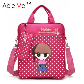 Dot Printing Fashion Kids Student Tote Bags Boys And Girls Backpack Tutorial Book Art School  Bags For Children