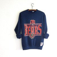 vintage Chicago bears sweatshirt. distressed member club sports sweatshirt. blue and orange
