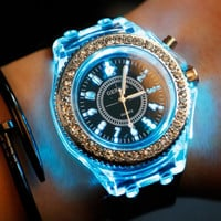 Fashion Light Up Silicone Straps Watch