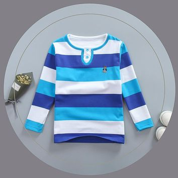 BibiCola new boys striped spring autumn polo shirts cotton boys clothes long sleeve tops kids polo shirt fashion boys clothing