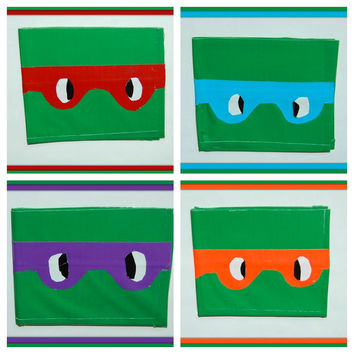 Teenage Mutant Ninja Turtle Duct Tape Wallet-CHOOSE One from 4 Styles-Donatello,Raphael, Michelangelo, Leonardo