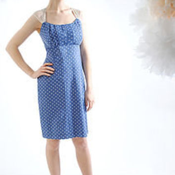 Polka Dot Silk Cotton Alessia Dress