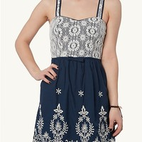 Lace Embroidered Sweetheart Dress