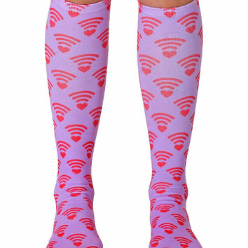 WiFi Love Knee High Socks