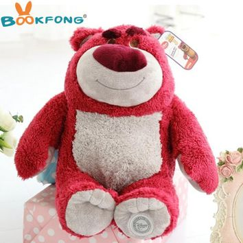 High Quality Original Toy Story Lotso Strawberry Bear Q Cute Kawaii Stuff Plush Toy Girl Baby Birthday Gift Christmas Gift Toys