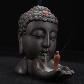 Calming Buddha Backflow Incense Burner For Home Decor