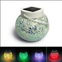 CIS-18095 3-LED Wonderful Solar LED Sun Light Color-changing Jar