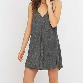 Pins & Needles Black Polka Dot Slip Dress - Urban Outfitters