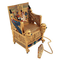 Park Avenue Collection King Tuts Golden Throne Treasure Box