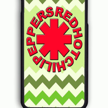 iPhone 6 Case - Rubber (TPU) Cover with Red Hot Chili Peppers Green Chevron Rubber Case Design