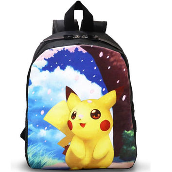 School Bags Kids Pokemon Backpack Boys Girls Kawaii Pikachu Mochila Infantil kindergarten low grade Student School Bag
