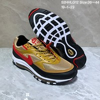DCCK N989 Nike Air Max 97 BW Skepta Air Cushion Casual Running Shoes Gold
