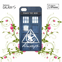 Tardis Doctor Who Hunger Games Always Harry Potter iPhone 4/4S / 5/ 5s/ 5c case, Samsung Galaxy S3/ S4 / S5  case, iPod Touch 4 / 5 case