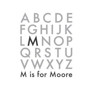 wall quotes wall decals - Alphabet Family Monogram