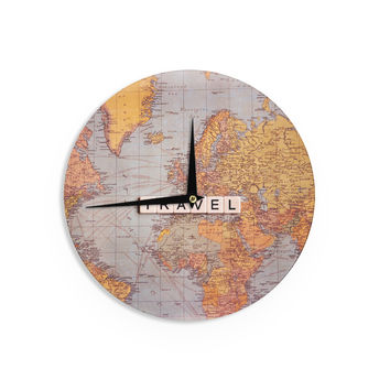 "Sylvia Cook ""Travel Map"" World Wall Clock"
