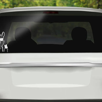 Llama Decal - Thumbs Up Decal -  Llama Sticker - Funny Llama Sticker - Drama Llama - Spit Happens Bumper sticker - Vinyl Decal - Car Sticker