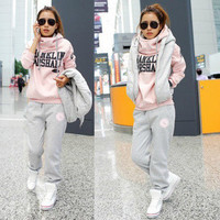 Korean Casual Pants Hoodies Bedding Set Sportswear Set [8822338700]