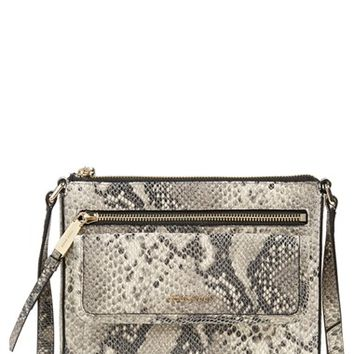 Cole Haan 'Antonia' Snake Print Crossbody Bag - Black