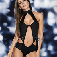 Shimmery Cut-Out Bodysuit
