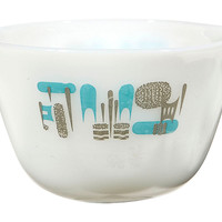 1960s Turquoise Accented Mixing Bowl
