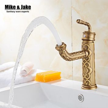 Antique brass bathroom basin faucet vintage basin mixer sink tap torneira banheiro basin mixer water antique faucet GYD6861