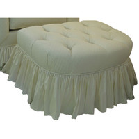 Angel Song 221920170 Tiara Ivory Adult Park Avenue - Stationary Ottoman