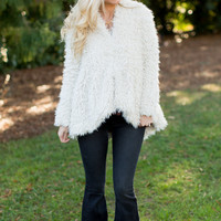 Free People Flared And Fluffy Fur Jacket