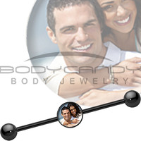 Custom Photo Industrial Barbell | Body Candy Body Jewelry