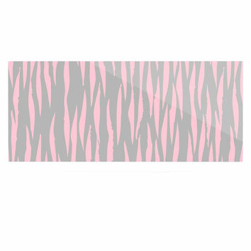 "Wildlife ""Pink Animal Print 12"" Gray Painting Luxe Rectangle Panel"