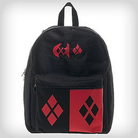 Harley Quinn Suit Up Hooded Backpack - Spencer's