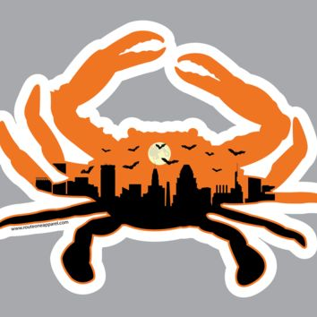 Spooky Skyline Crab / Sticker