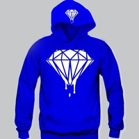 "Diamond dripping Hoodie ""2 Prints"" Funny and Music"