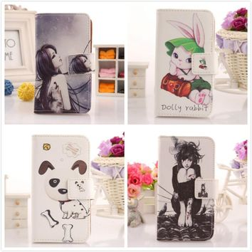 AIYINGE Trendy Wallet Design Soft PU Leather Cartoon Case For Acer Liquid Z530 5 Mobile Phone Shell Accessory