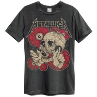 Metallica Men's  Watching You Slim Fit T-shirt Black