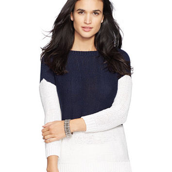 Lauren Ralph Lauren Colorblocked Sweater - Sweaters - Women - Macy's