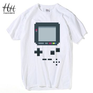 HanHent Old Game Consoles T-shirts Man's Creative Cotton Summer Tee shirts 2017 Fashion Hip Hop Retro Style Geeks T shirts
