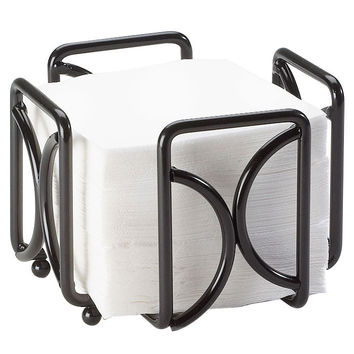 5.5W x 5.5D x 4.5H Wire Bar Napkin Holder Black