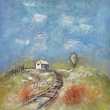 House on the Hill Art Oil Painting